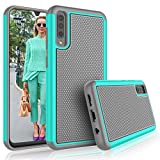 Galaxy A50 Case, Galaxy A30S / A50S Cute Case, Tekcoo [Tmajor] Shock Absorbing Rubber Silicone Plastic Scratch Resistant Bumper Grip Sturdy Hard Phone Cases Cover For Samsung A50/A30S/A50S [Turquoise]