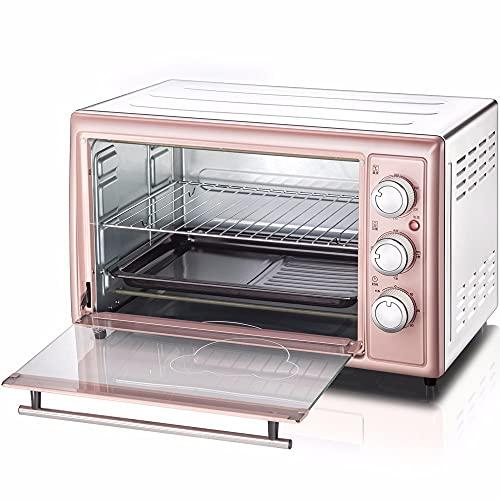 ZXAOYUAN Horno 30L Parrilla eléctrica portátil - Función de Cocina múltiple Parrilla y horneado - Control de Temperatura ajustable1600W