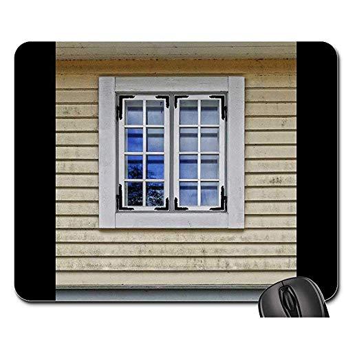 Fransenfreie Ränder Mouse Pad - Mausunterlage - Fenster-Hölzerne Windows-Bauholz-Fassaden-Architektur