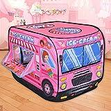 Buyger Tipi Spielzelt für Kinder Mädchen Prinzessin Eiscreme Eiswagen Spielhaus Kinderzelt mit...