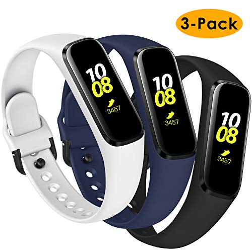 KIMILAR armbanden compatibel met Samsung Galaxy Fit E armband silicone (niet voor Samsung Galaxy Fit) [3 Pack], zachte slank reserveband horlogeband voor Samsung Galaxy Fit E 2019 Smartwatch