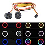 RC LED Light kit Headlights Angel Eyes with 12 Modes for 1/10 RC Rock Crawler Truck Axial SCX10 RC4WD Traxxas TRX-4 Cars Accessories