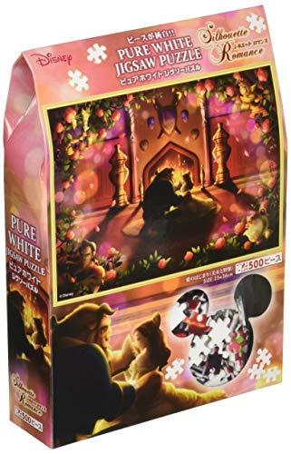 500ピース ジグソーパズル ピュアホワイト 美女と野獣 愛のはじまり【ぎゅっとシリーズ】(25x36cm)