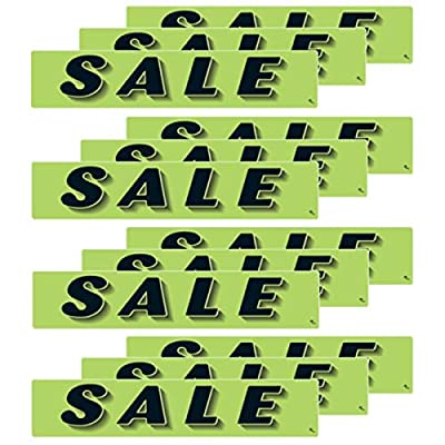 VERSA-TAGS 14.5 Inch Black & Chartreuse Green Adhesive Windshield Slogan Car Dealer Sticker - Sale