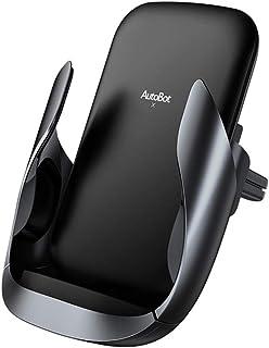 شاحن سيارة لاسلكي، شحن سريع 360 درجة دوران حامل هاتف سيارة 10 وات متوافق مع جالاكسي S10 / نوت 9 / S9 / S8 / نوت 8 ، 7.5 وا...