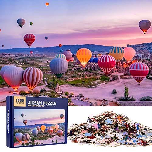 MOOKLIN ROAM Puzzle Classici 1000 Pezzi per Adulti, Jigsaw Puzzles Bambini, Puzzle Giocattolo Decompressivo Intellettuale Educativo Divertente Gioco per Famiglie (Mongolfiera)