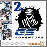 2pcs Dakar GS Adventure ADESIVI R 1200 1150 F 800 650 F700 GS A R1200GS R1200 Motorrad Touratech Givi Trekker Outback Motorcycle Aluminium Panniers VALIGIE LATERALI Top CASE (Nero/Blu)