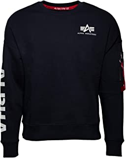 ALPHA INDUSTRIES Men's Sleeve Print Os Sweater Sweatshirt
