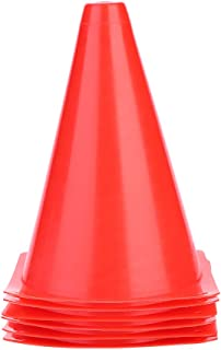 Tbest markeringskegel 6 stycken 18 cm markeringskedja fotbollsträning Kegel varningsbricka fotboll trafikshuvudbonader pla...