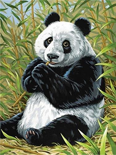 Diamond Painting Full Round Drill 5D DIY'Animal Panda Scenery' Diamond Embroidery Rhinestone Cross Stitch Decor A3 30x40cm