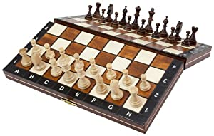 Albatros Reise-Schachspiel VENEZIA, magnetisch, Feldgröße 28 x 28 cm, klappbar, Handarbeit aus Holz