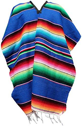 Trade MX auténticos ponchos mexicanos Sarapes Mexicanos tamaño adulto (varios colores disponibles)