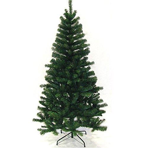 Hengda® Árbol de Navidad Artificial PINOS único Árbol Decorativo con Soporte en plástico Christmas 220CM Verde con 1000ramas Material PVC
