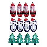 Frcolor 12 stücke Weihnachten Haarspangen Kein Slip Haarspangen Weihnachten Metall Snap Clips Schneemann Weihnachtsmann Haarnadel für Baby Kleinkind Mädchen