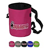ALPIDEX Bolsa Magnesio Escalada Chalk Bag Bolsa Tiza, Color:Pink Power