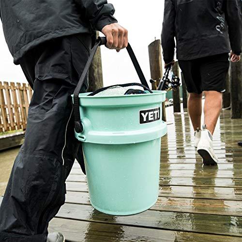 YETI Loadout 5-Gallon Bucket, Impact Resistant Fishing/Utility Bucket, Seafoam
