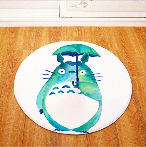 lili-nice Alfombras Serie Totoro Alfombra Redonda Alfombrilla De Juego para Niños Hogar Cocina Área De Dormitorio Alfombras Decoración De Baño Alfombra Antideslizante Alfombra 140cm