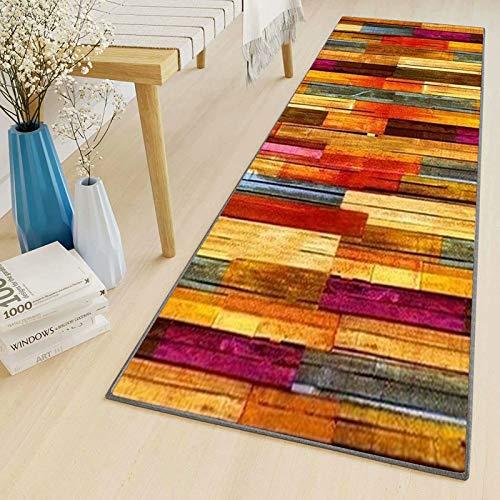 LYYK Alfombra Bano alfombras Rojo Beige por Metros Lavables Antideslizante Baratas Alfombra Pasillo a Medida para Pasillo Salón Cocina Baño Lavadero 50x300cm ColorF