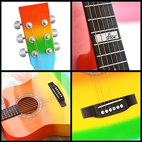 YJFENG-Guitarra Acústica Cuerdas De Latón Efecto De Resonancia Es ...