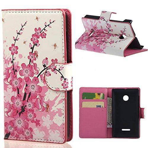 weixin TM PU Leather Cover Case per Nokia Microsoft Lumia 435 Cover Case Protettivo Coprire Pelle Guscio Sacchetto Wallet/Card Slots (37#)
