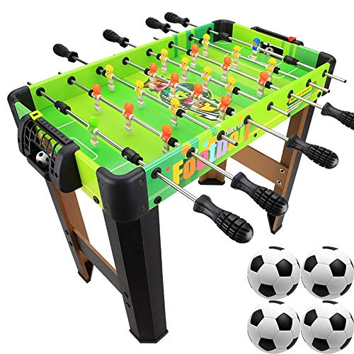 Großes, freistehendes Deluxe-Tischfußballspiel Acht-Takt-Standardausgabe Interaktive Sportunterhaltung für Kinder für Eltern und Kinder Farbe PVC-Aufkleber 3-8 Jahre alt Größe 59 x 49 x 51 cm