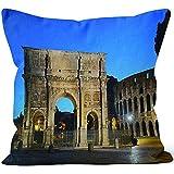 chipo Cushion Cover Coliseo Roma Night Throw Pillow Cover Home Funda De Almohada Decorativa para Vacaciones Sofá De Impresión Square Book Store Home Hospital Hostel Acogedor 45X45Cm CAS