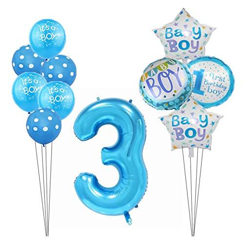 Yinyimei Balloon 1st Birthday Decoration Balloon Set Newborn Baby First Activity Number Aluminum Foi Balloon Girl Baby Shower Party Balloon Set (Farbe : Mint Grün)