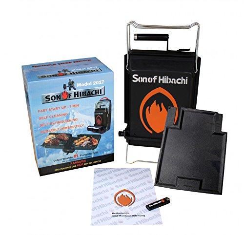 Son of Hibachi® klappbarer Holzkohlegrill Modell inkl. zusätzlicher Grillplatte im Set
