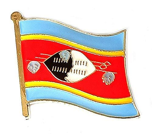 Kleine Anstecknadeln, Motiv: Swasiland-Flagge, aus emailliertem Metall, Souvenir für Hut, Kleidung, Rucksack