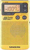 Sangean DT-400W AM/FM Digital Weather AlertnPocket Radio