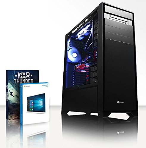 VIBOX Limitless 6 Gaming PC Computer mit War Thunder Spiel Bundle, Windows 10 OS (4,5GHz Intel i9 Extreme 10-Core Prozessor, Nvidia Geforce GTX Titan X, 64Go DDR4 2133MHz RAM, 480GB SSD, 3TB HDD)