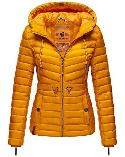 MARIKOO Damen Übergangsjacke Stepp-Jacke mit Kapuze Aniyaa Yellow Gr. XS