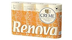 Packet of 12 rolls. 4-ply Toilet Paper Cream-coloured Subtle aroma Dermatologically tested.