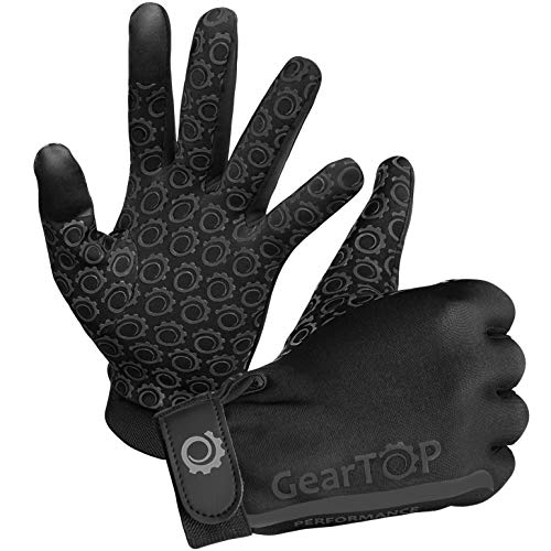 GearTOP Touch Screen Thermal Gloves - Great for Running, Rugby, Football, Hunting, Walking for Women and Men (Black, L)
