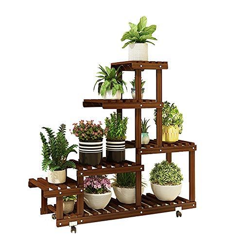 Qi Tai Flower stand Flower Shelf Multi-layer Binnen Effen Hout Balkon Woonkamer Tegen De Muur Staand Bloem Pot Plank Bloem pot opbergrek