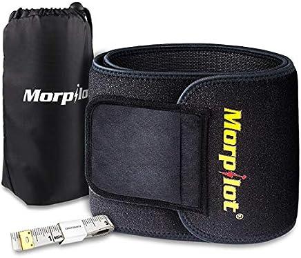 morpilot Fascia Addominale Dimagrante Regolabile per Uomo e Donna Cintura Dimagrante Snellente per Sport, Fitness, Dimagrire - Nero