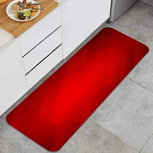 ZHIMI Multiuso Tappeti Cucina,Linee rette di Sfondo Rosso Chiaro vettoriale,Antiscivolo Tappeti per Cucina Lavabile Tappeti Bagno Zerbino Tappeto 45 x 120cm