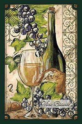 BlechschilderWelt Plaque en t/ôle Vino Italiano