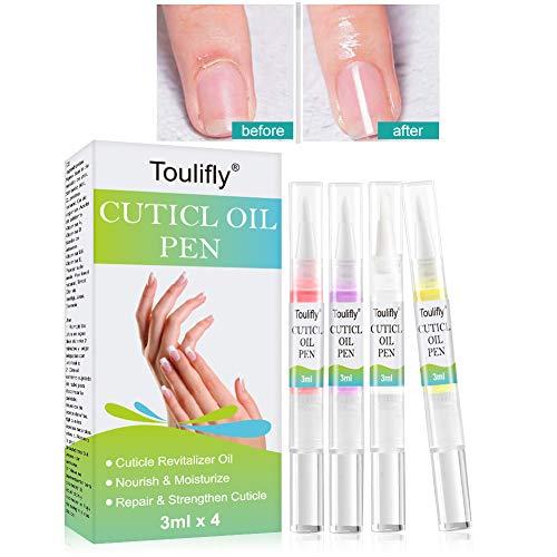 Nagelhärter, Nagelpflege stift, Nagelhautpflege-Öl, Nagelaufbauserum Schutz & Stärkung Nagelhaut gegen brüchige, dünne, weiche Nägel(4pc)