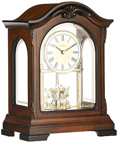 Bulova B1845 Durant Chiming Clock, Walnut