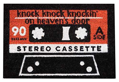 Felpudo Cassette welcome - Felpudo entrada casa antideslizante 40 x 60 cm - Alfombra entrada casa exterior, Fabricado en fibra de coco - Productos con licencia oficial