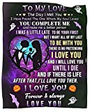 to My Love Blanket Halloween Throw Blankets for Couch Sofa Bed Warm Flannel Positive Encourage Lover Throws Anniversary Birthday 50X60 Inch