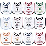 Hudson Baby Unisex Baby Cotton Terry Drooler Bibs with...