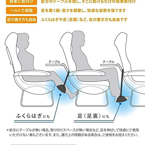 極楽フット左右セットフットレスト足置き快適飛行機車用海外旅行エコノミークラス症候群GOKUFOOTSET