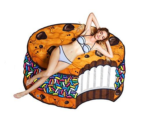 BigMouth Inc – Biscuit Crème Glacée Gâteau Cookie Serviette de Plage Geant – Couverture Bain XXL Rond