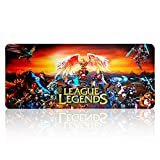 Extended Gaming Mouse Pad Large for League of Legends All Heros,Keyboard and Mouse Combo Pad Desk Mat (27.5' x 11.8' x 0.1')