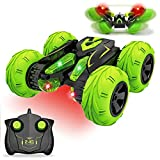 Jellydog Toy Remote Control Stunt Car,RC Cars for Kids,4WD 2.4GH Remote Control Car, Double Sided Rotating 360° Flips Stunt Car, Kids Toy Car for Boys Age 6 +,Green