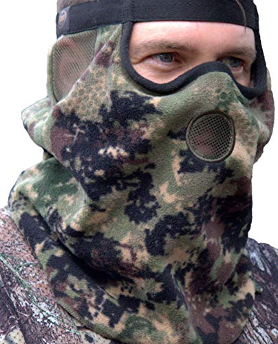 DOWN UNDER OUTDOORS Premium Camo Hunting Face Mask Heavyweight Fleece or Jersey Fleece for Winter and Cold Weather, Multi Fit