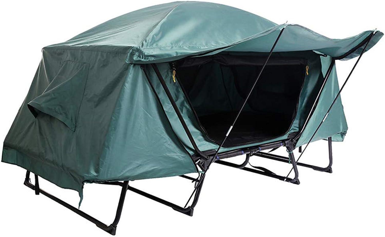J.SPG Off-Ground-Zelt Bett 2 Personen Angelausrüstung Camping Angeln Single-Layer-Zelt Outdoor-Freizeit Bergsteigen Winddicht und wasserdicht Grün