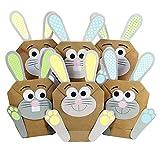 Papierdrachen 12 DIY Osterhasen Tüten - Bunte Geschenktüten zu Ostern